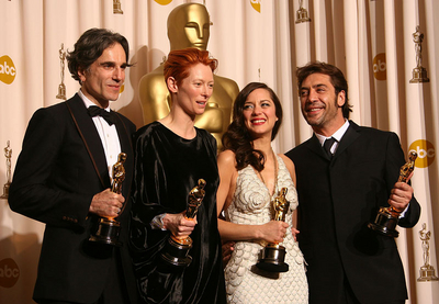 Daniel Day-Lewis and Tilda Swinton and Marion Cotillard and Javier Bardem