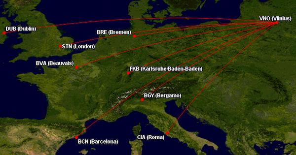 Ryanair skrydziai